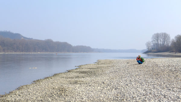 Pláž pri rieke Dunaj