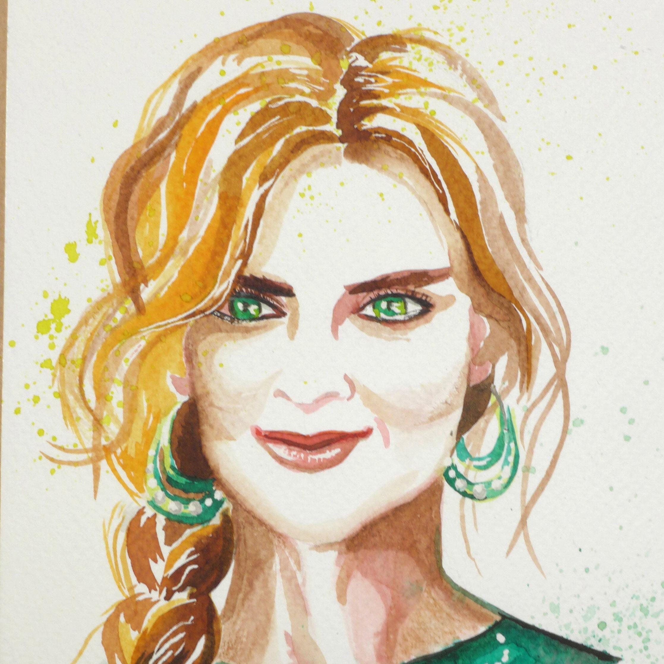 Akvarel & portrét