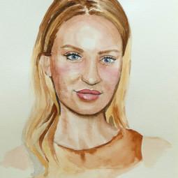 Portrét – akvarel