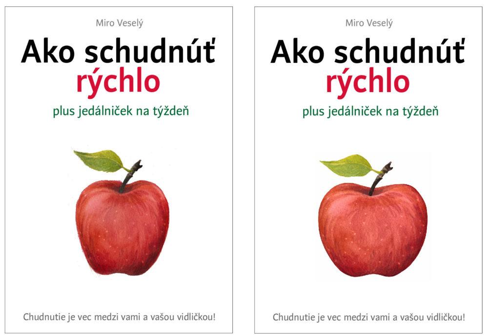 Posledné dve verzie návrhu obálky pre knihu