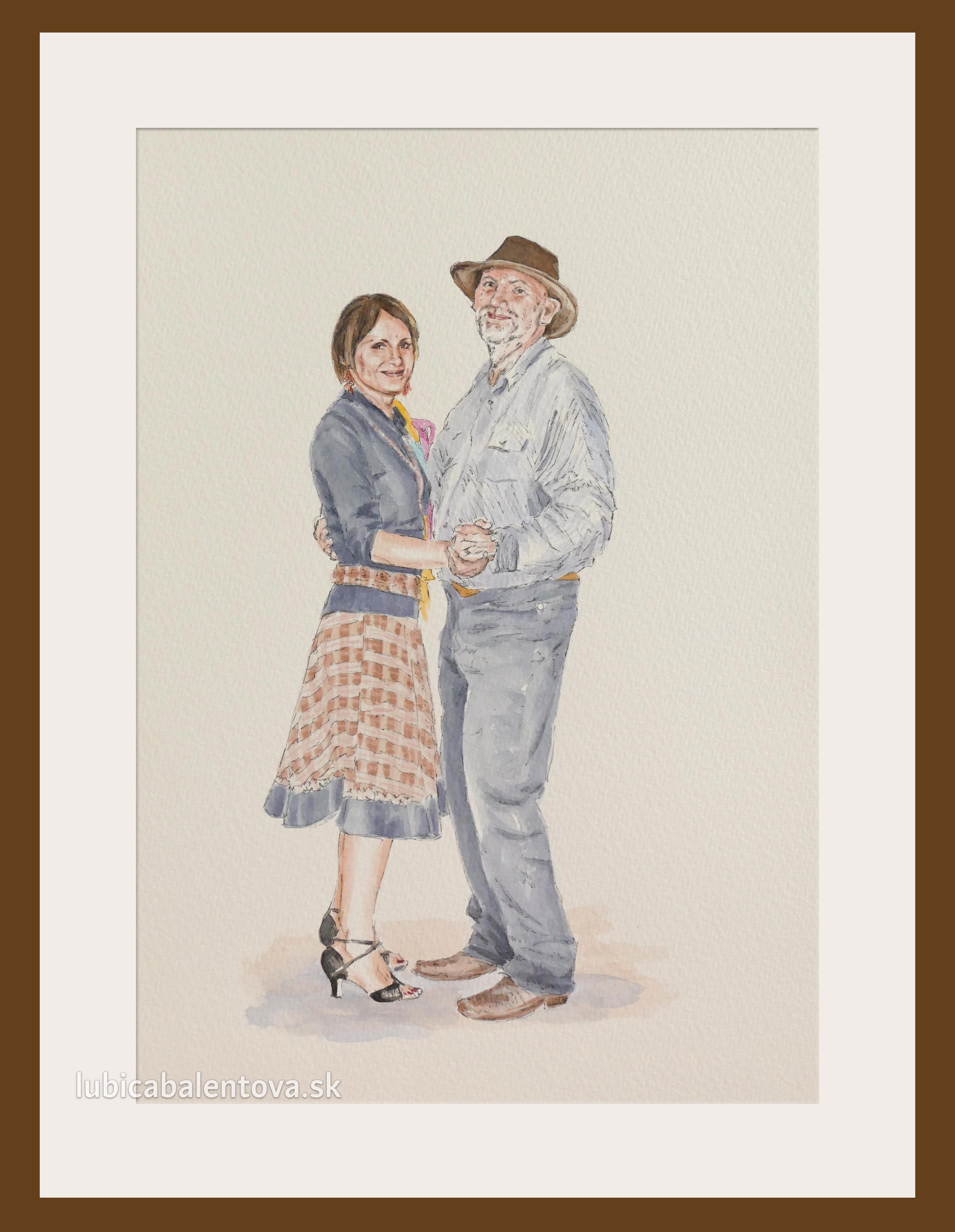 Tancujúca dvojica – obraz na objednávku