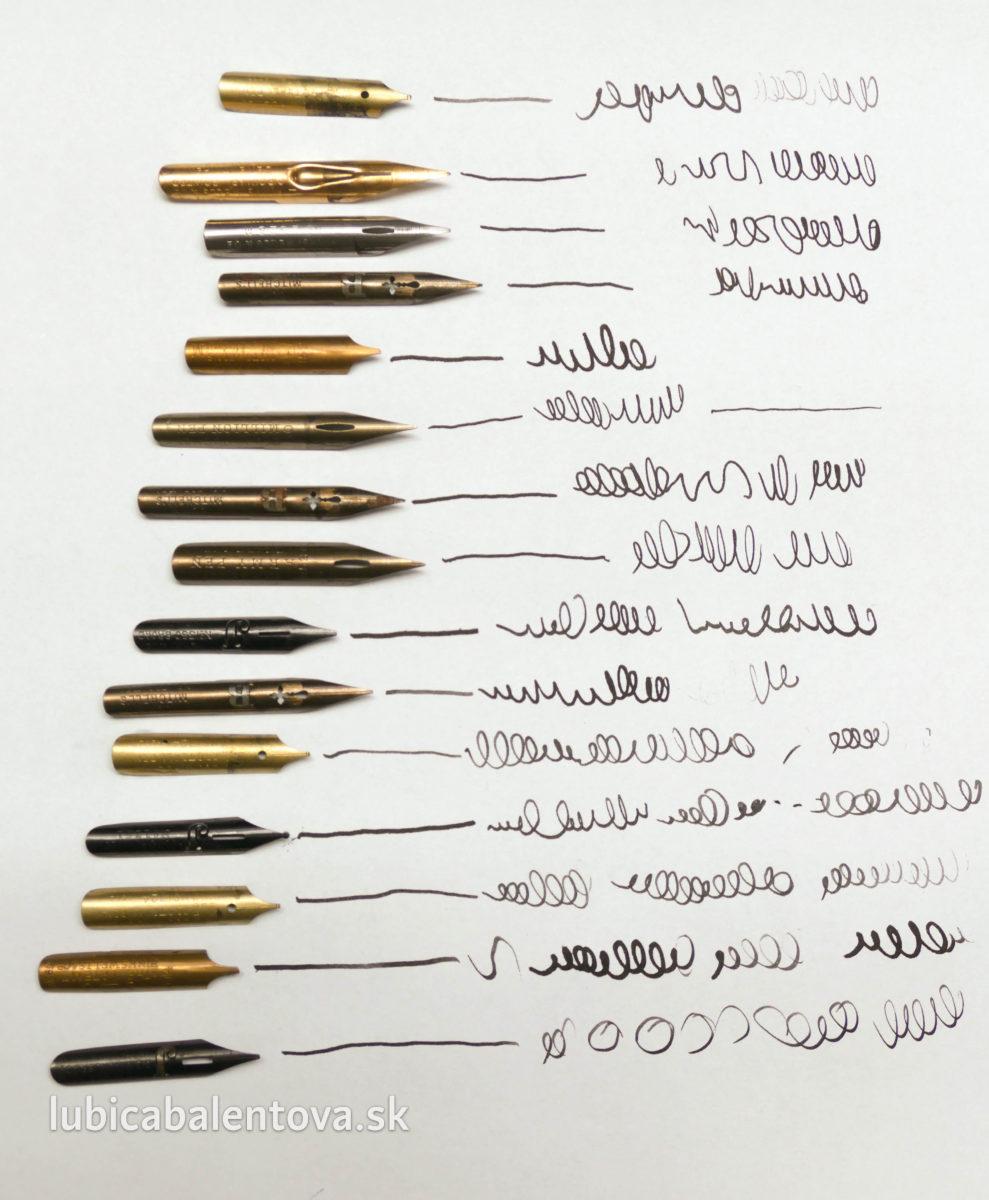 Ako píšu rôzne perá