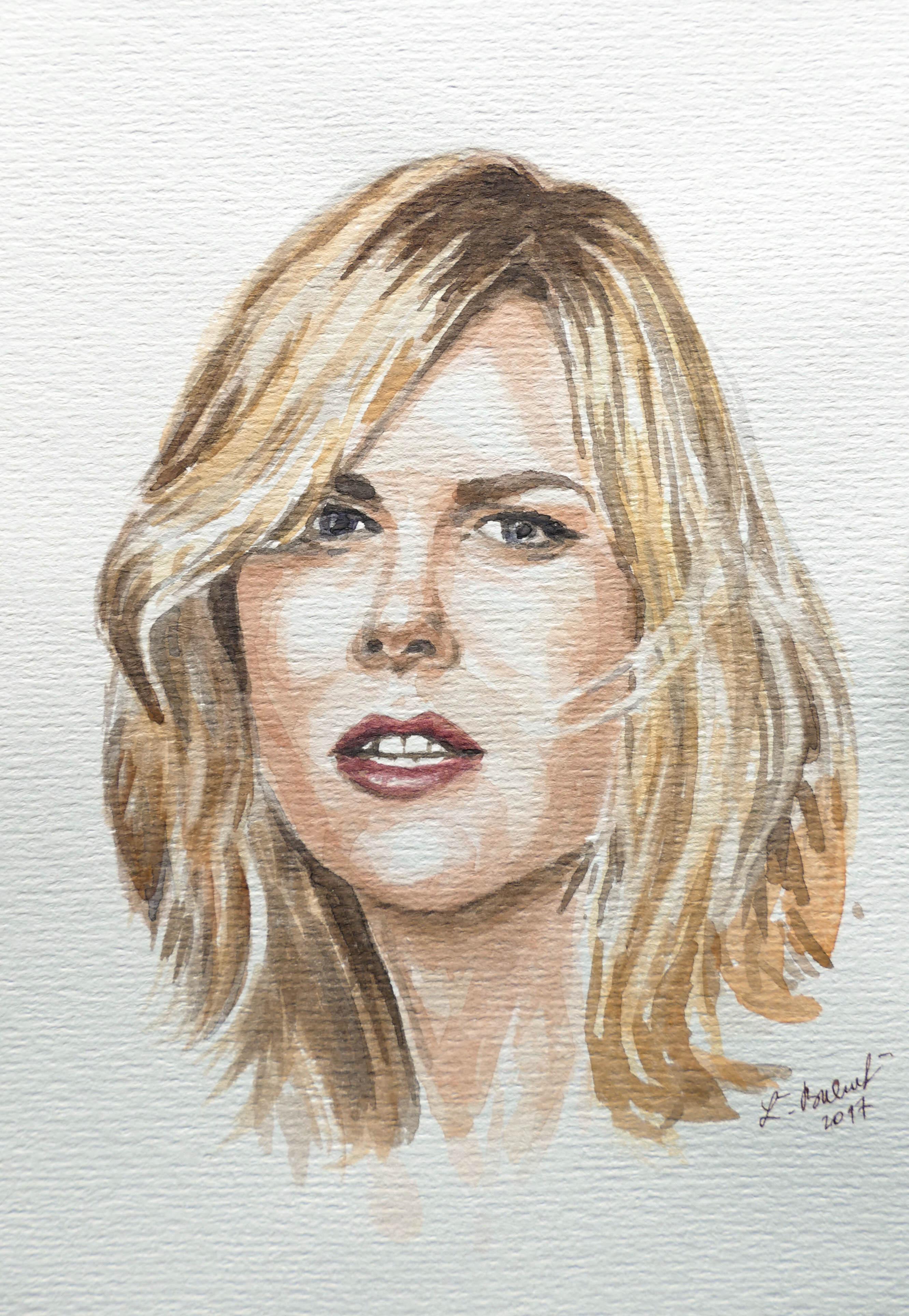 Portrét akvarelom