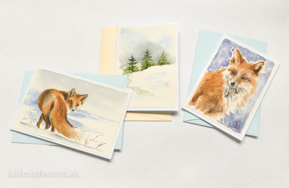 Ručne maľované pohľadnice