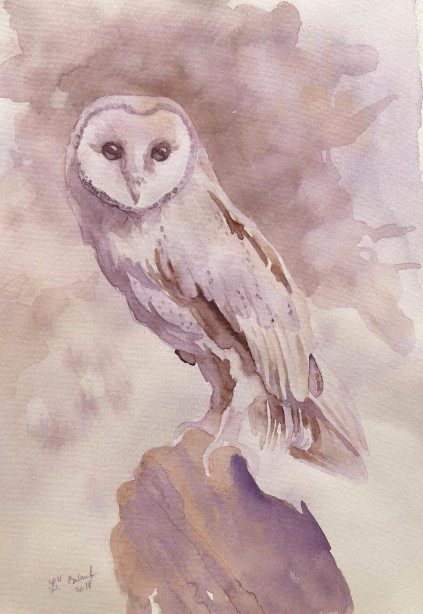 Plamienka namaľovaná akvarelom