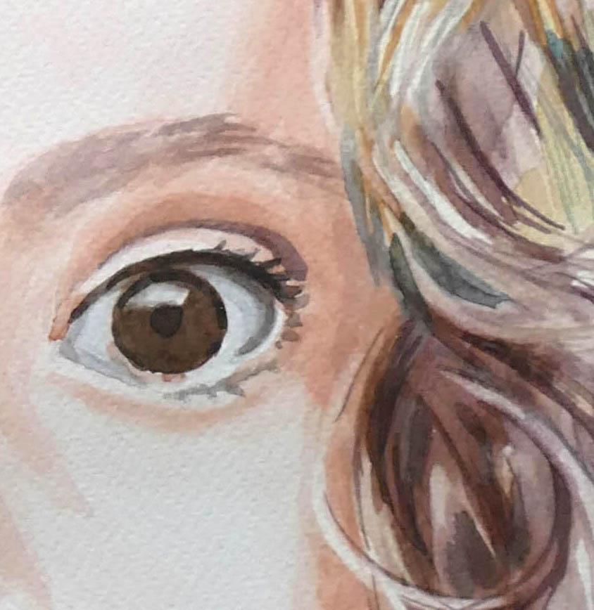 Detail portrétu - očko dievčatka