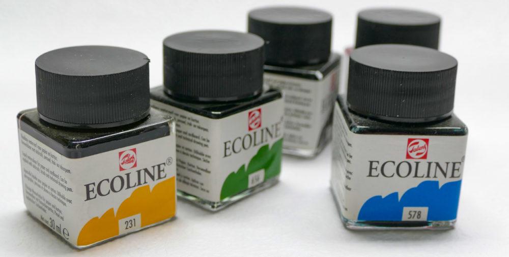 Tekuté akvarelové farby