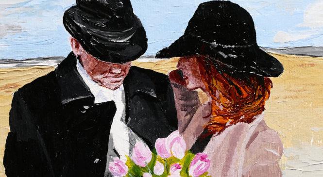 Svadobný portrét podľa fotografie – akryl