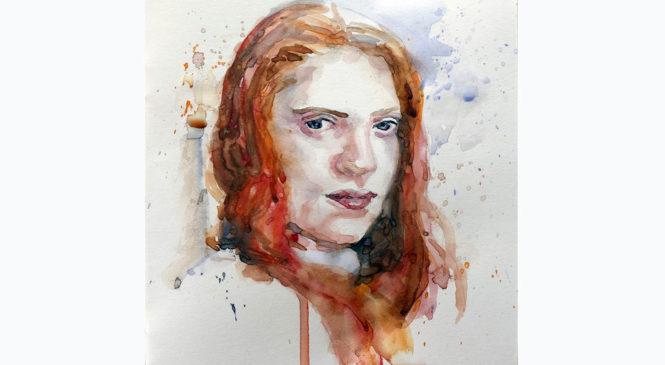 Akvarelový portrét